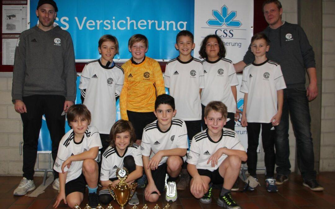 Hallenturnier Glarus – die Junioren des FC Glarus gewinnen vier von sechs Turnieren