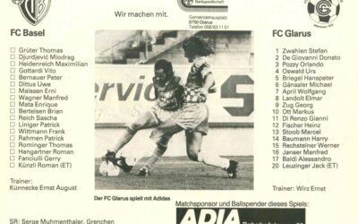 Als der FC Glarus zu Hause 0:0 gegen den FC Basel spielte